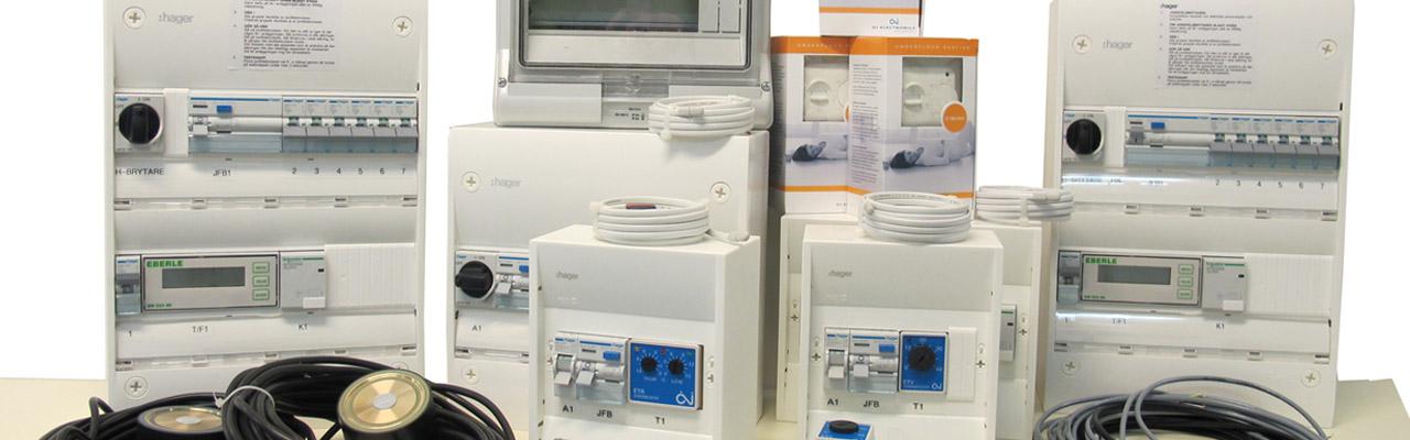 Styrsystem för värmekabel, takvärme, markvärme.